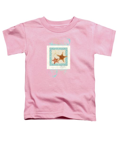 Starfish Greek Key Pattern W Swirls Toddler T-Shirt