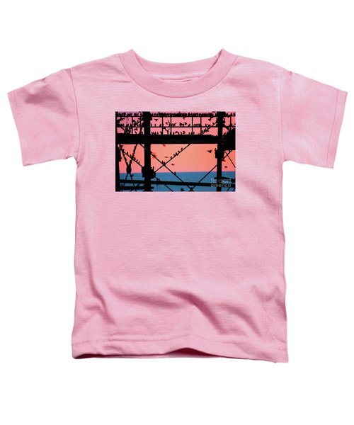 Starlings Under Aberystwyth Pier Toddler T-Shirt