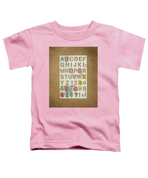 Stencil Alphabet Fun Toddler T-Shirt