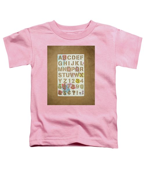 Stencil Alphabet Fun Toddler T-Shirt