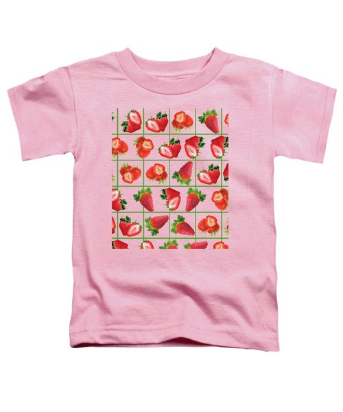 Strawberries Pattern Toddler T-Shirt