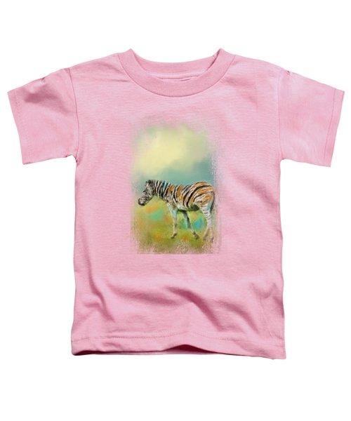 Summer Zebra 2 Toddler T-Shirt by Jai Johnson