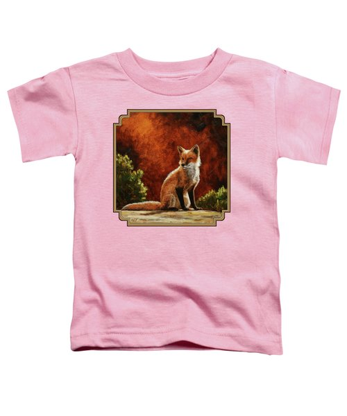Sun Fox Toddler T-Shirt by Crista Forest