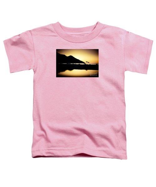 Sunrise At Sea Coast Brown Toddler T-Shirt
