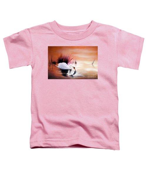 Sunrise On Swan Lake Toddler T-Shirt