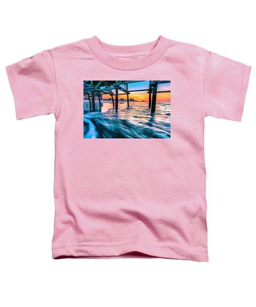 Sunrise Under Cherry Grove Pier Toddler T-Shirt
