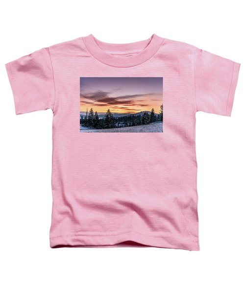 Sunset And Mountains Toddler T-Shirt