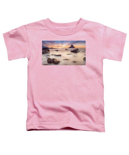 Sunset At Bleik Toddler T-Shirt