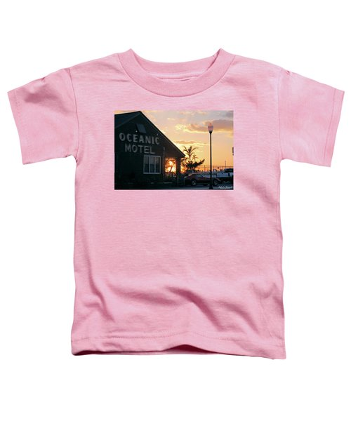 Sunset At Oceanic Motel Toddler T-Shirt