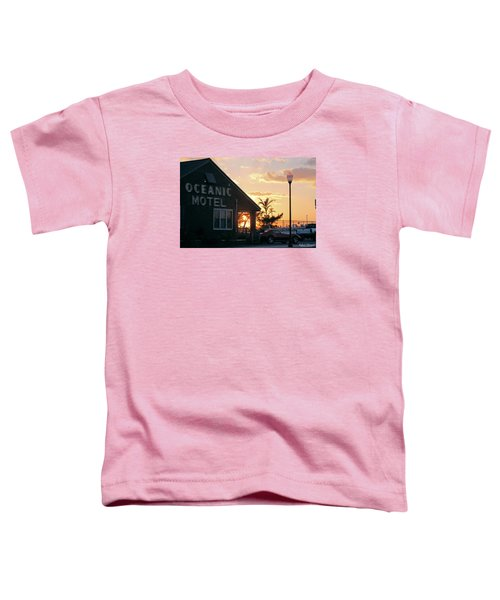 Sunset At Oceanic Motel Toddler T-Shirt