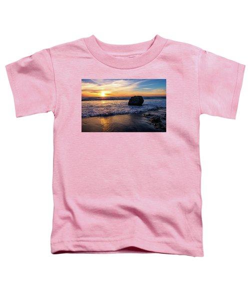 Sunset At San Simeon Beach Toddler T-Shirt