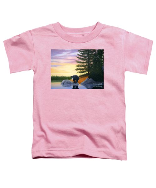 Sunset Bear Toddler T-Shirt
