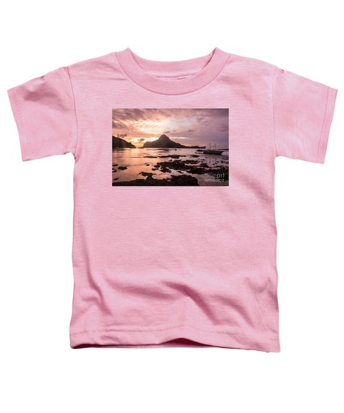 Sunset Over El Nido Bay In Palawan In The Philippines Toddler T-Shirt