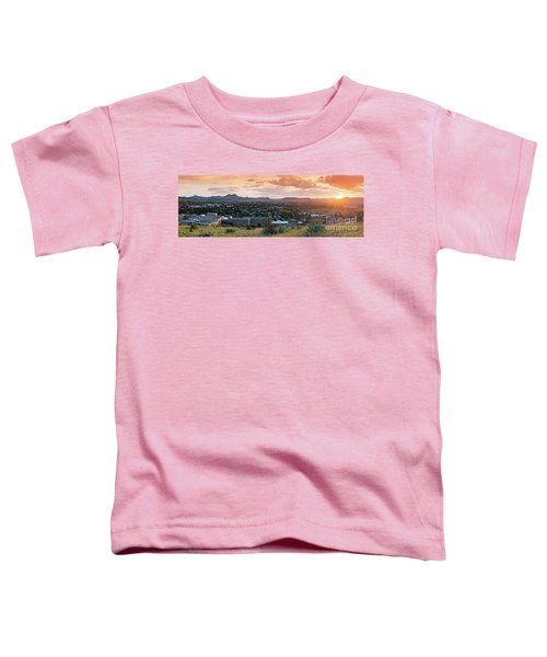 Sunset Panorama Of Alpine And Sul Ross State University - Brewster County - Far West Texas Toddler T-Shirt