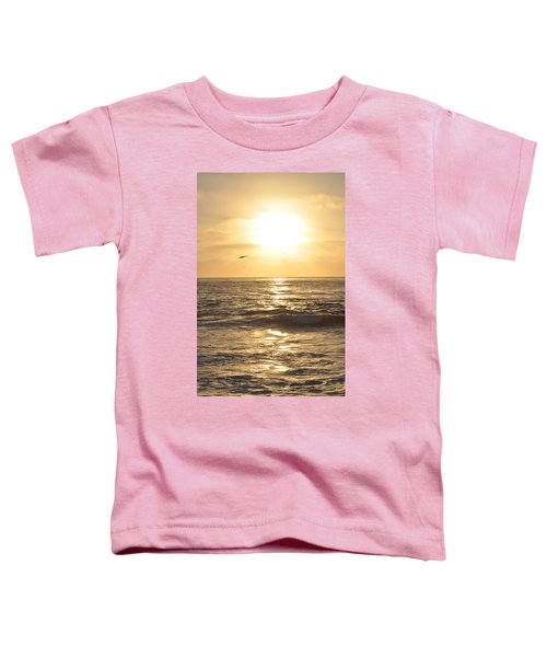 Sunset Pelican Silhouette Toddler T-Shirt