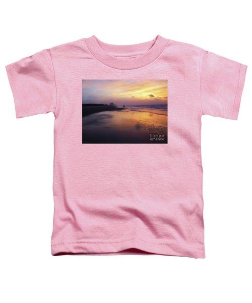 Sunset Walk On Myrtle Beach Toddler T-Shirt