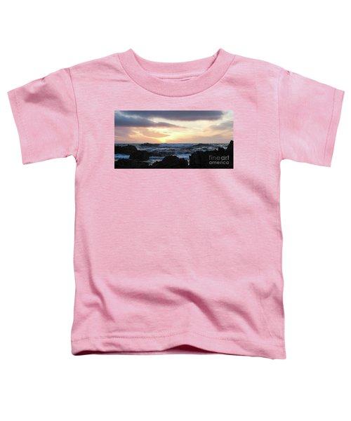 Sunset Waves, Asilomar Beach, Pacific Grove, California #30431 Toddler T-Shirt