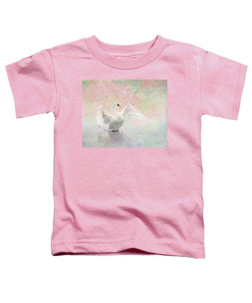 Swan Dream - Display Spring Pastel Colors Toddler T-Shirt