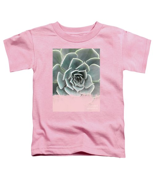 Sweet Pink Paint On Succulent Toddler T-Shirt