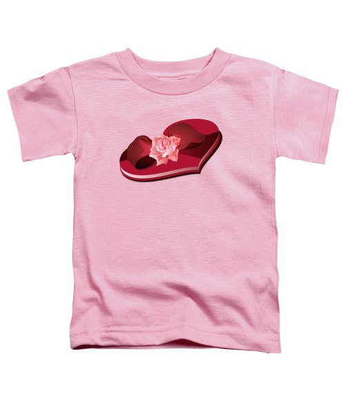 Sweetheart Candy Box With Pink Rose Toddler T-Shirt