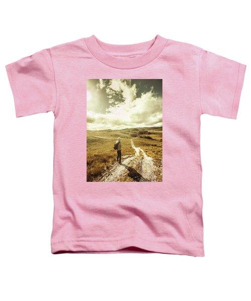 Tasmanian Man On Road In Nature Reserve Toddler T-Shirt