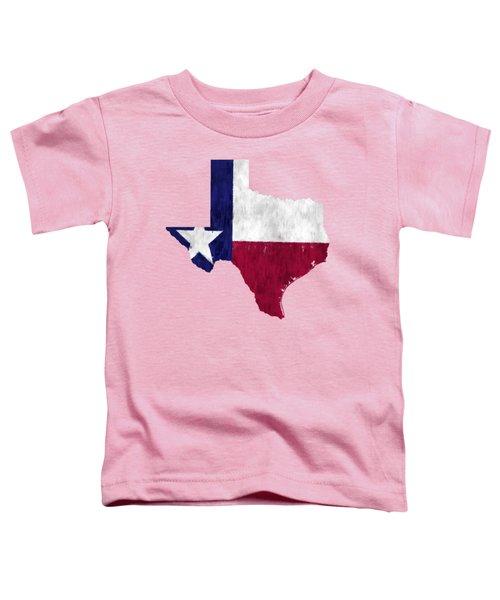 Texas Map Art With Flag Design Toddler T-Shirt