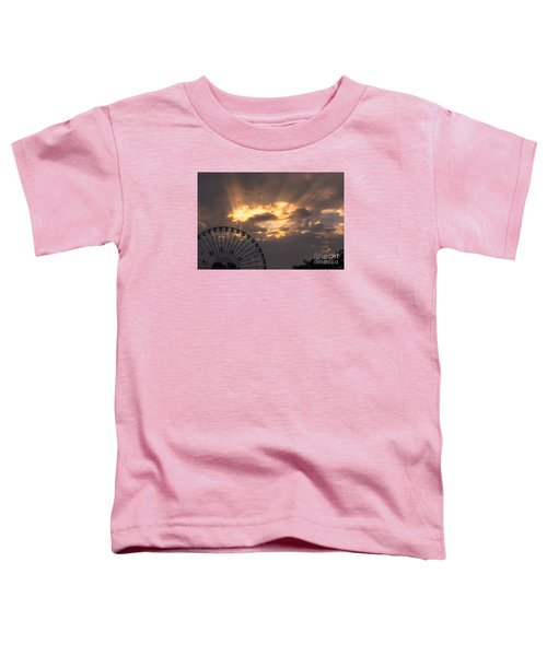 Texas Star Ferris Wheel And Sun Rays Toddler T-Shirt