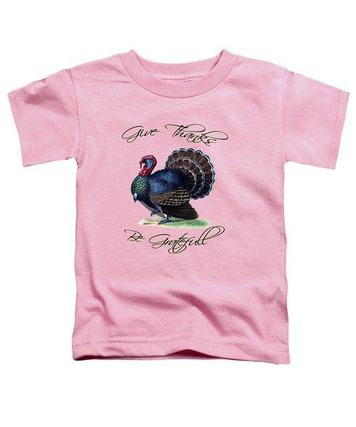 Thanksgiving Turkey Dictionary Art Toddler T-Shirt