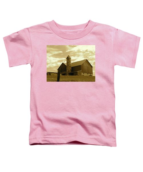 The Amish Silo Barn Toddler T-Shirt