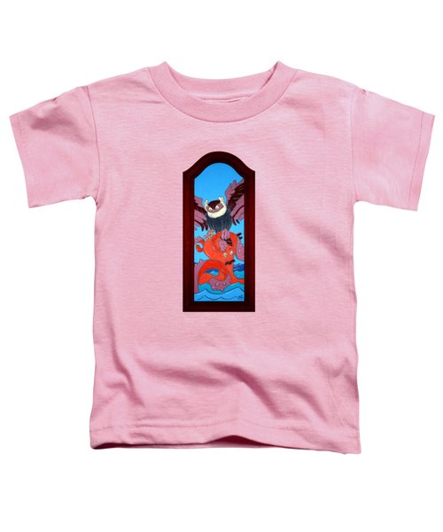 The Apprehension Painted On A Salvaged Cabinet Door Toddler T-Shirt