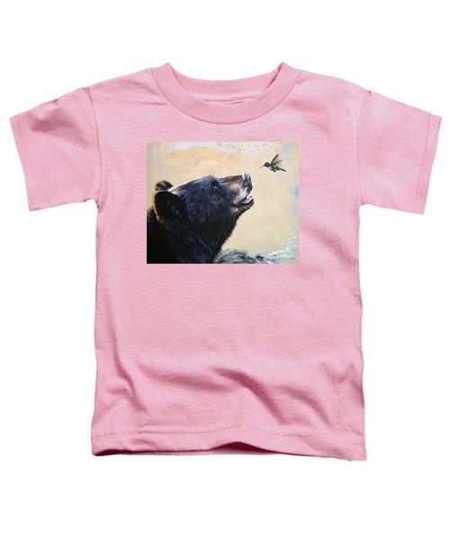 The Bear And The Hummingbird Toddler T-Shirt