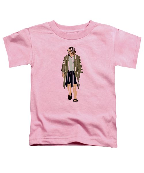 The Big Lebowski Inspired The Dude Typography Artwork Toddler T-Shirt