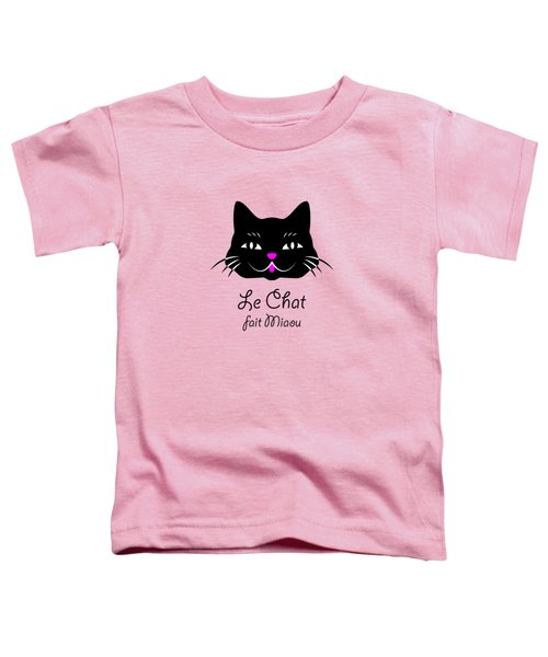 The Cat Says Meow Toddler T-Shirt