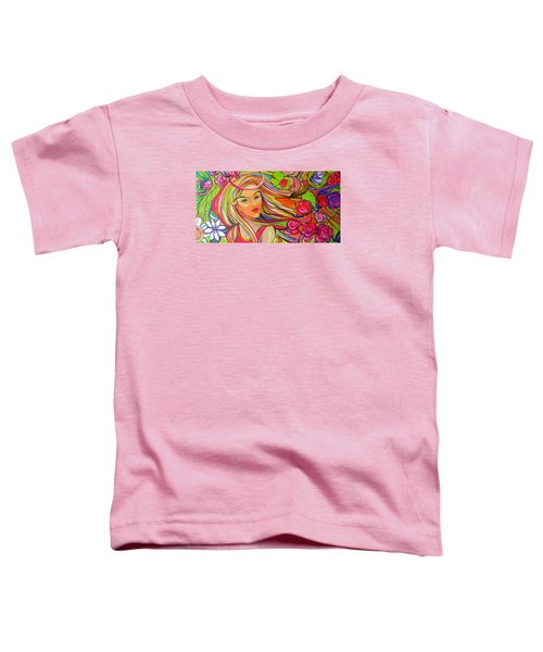 The Girl With The Flowers In Her Hair Toddler T-Shirt