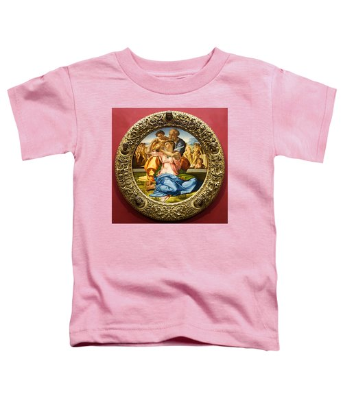 The Holy Family - Doni Tondo - Michelangelo Toddler T-Shirt