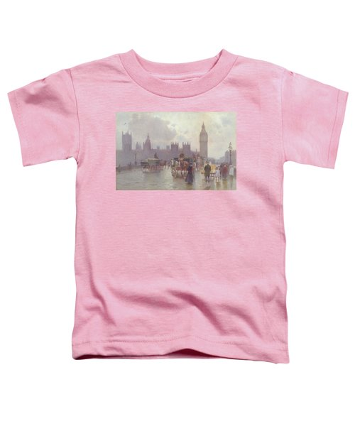 The Houses Of Parliament From Westminster Bridge Toddler T-Shirt