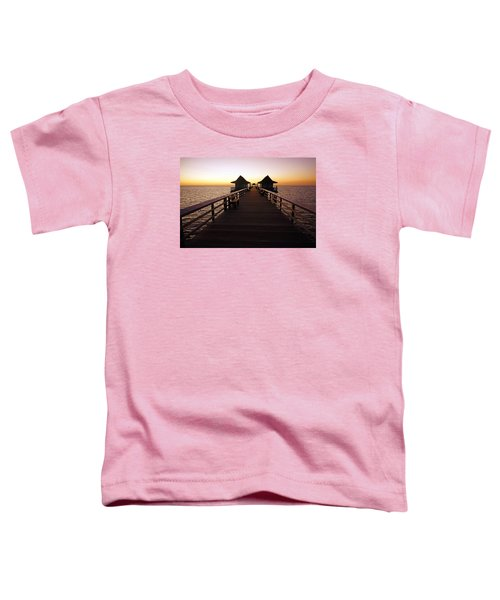 The Naples Pier At Twilight - 01 Toddler T-Shirt