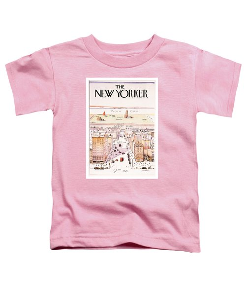 The New Yorker - Magazine Cover - Vintage Art Nouveau Poster Toddler T-Shirt