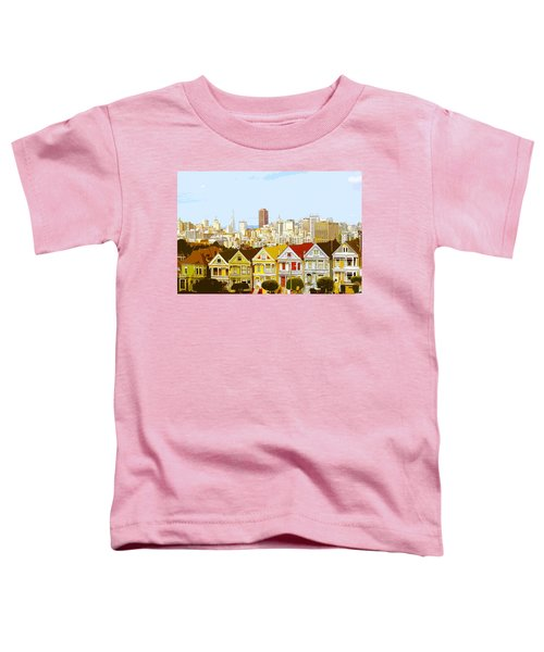 The Painted Ladies In San Francisco California Toddler T-Shirt