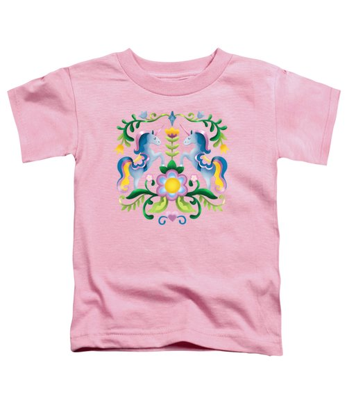 The Royal Society Of Cute Unicorns Light Background Toddler T-Shirt