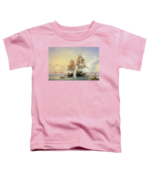 The Russian Cutter Mercury Captures The Swedish Frigate Venus On 21st May 1789 Toddler T-Shirt