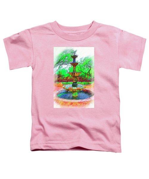 The Spanish Courtyard Fountain Toddler T-Shirt