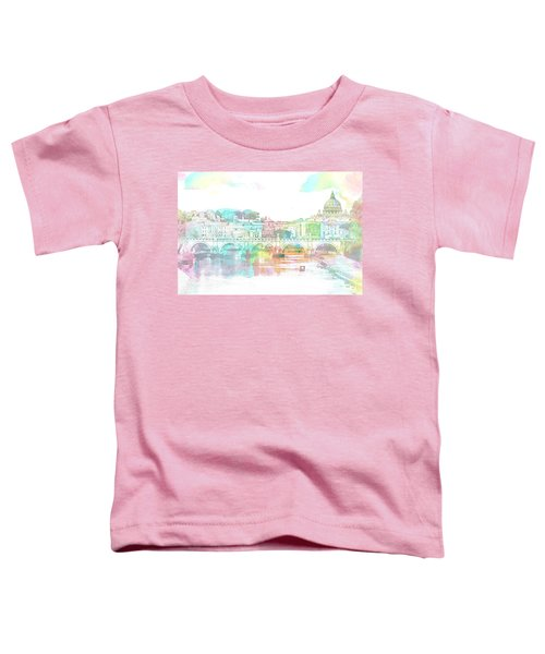 The View From Castel Sant'angelo Towards Ponte Sant'angelo, Brid Toddler T-Shirt