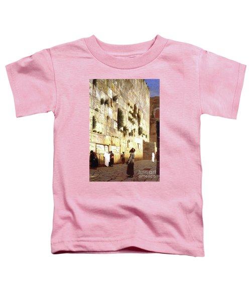 The Wailing Wall, Jerusalem, 1869 Toddler T-Shirt