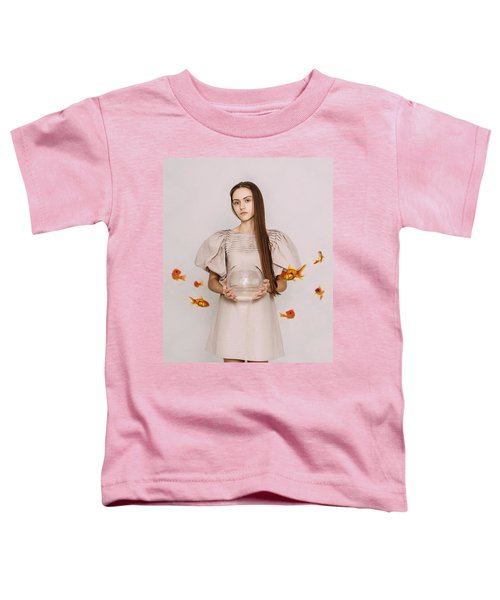 Thoughts Of Freedom. Series Escape Of Golden Fish  Toddler T-Shirt