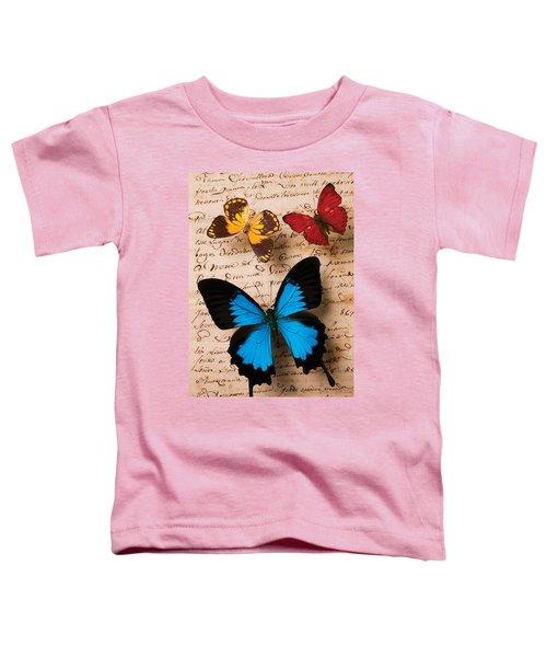 Three Butterflies Toddler T-Shirt