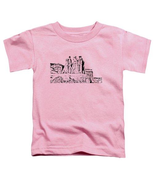 Three Gossips Drawing Toddler T-Shirt