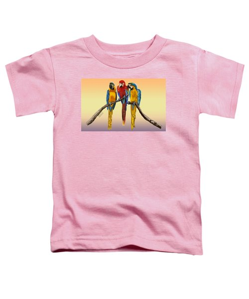 Three Macaws Hanging Out Toddler T-Shirt