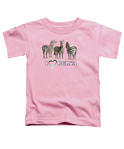 Three Zebras In Kenya Toddler T-Shirt