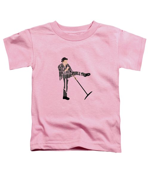 Tom Waits Typography Art Toddler T-Shirt